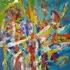 Confluence_Acrylic on Canvas_42x42 inch