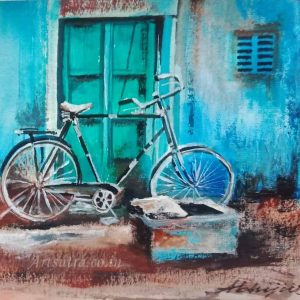 bicycle-painting, bicycle-painting-prints